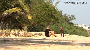 Cooper und Mali am Strand