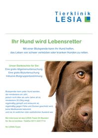 Tierklinik LESIA Blutspende